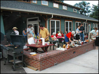 Community cookout on the Common House patio